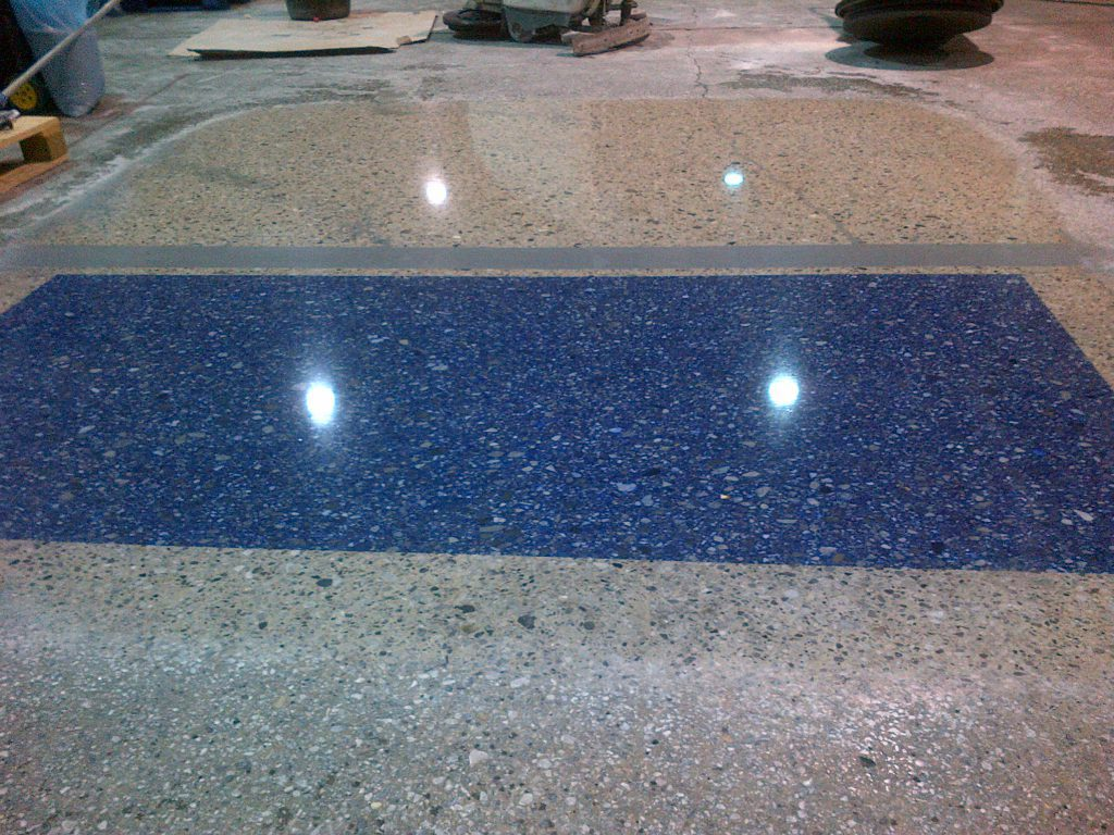 Polished concrete colour
